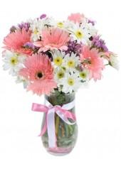 Vazo Renkli Çiçekler