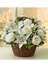 Sepette Beyaz Güllerden Arajman