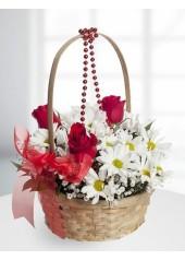 Gül ve Kır Çiçekleri Arajmanı